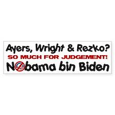 NObama bin Biden Bumper Bumper Sticker