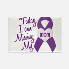 Missing My Mom 1 PURPLE Rectangle Magnet