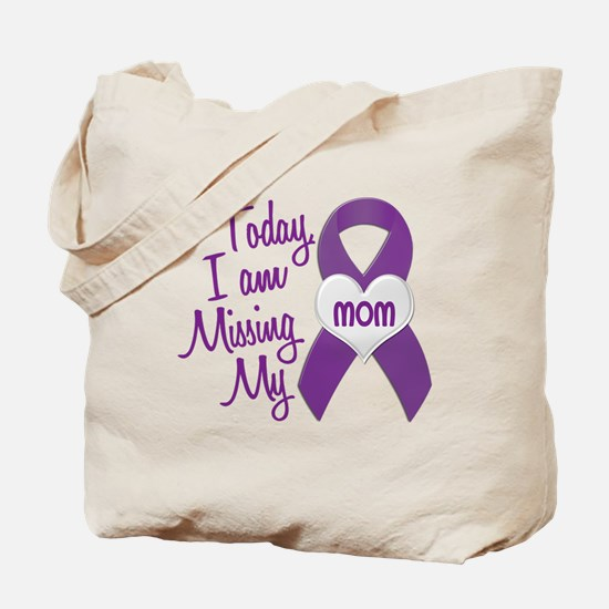 Missing My Mom 1 PURPLE Tote Bag