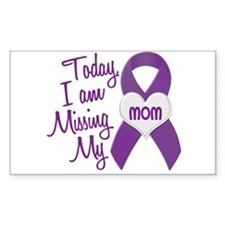 Missing My Mom 1 PURPLE Rectangle Decal