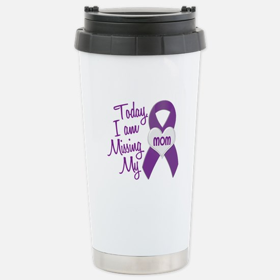 Missing My Mom 1 PURPLE Stainless Steel Travel Mug
