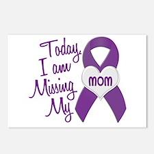Missing My Mom 1 PURPLE Postcards (Package of 8)