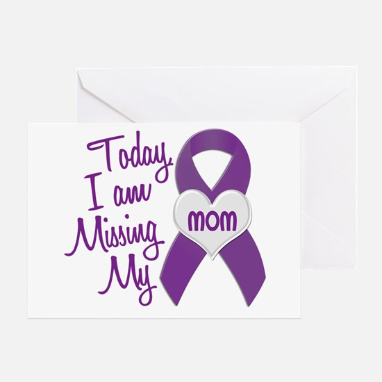 Missing My Mom 1 PURPLE Greeting Card