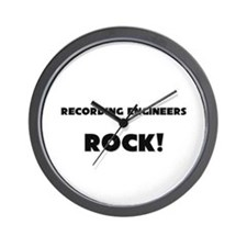 Recording Engineers ROCK Wall Clock
