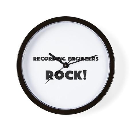Recording Engineers ROCK Wall Clock