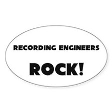 Recording Engineers ROCK Oval Decal