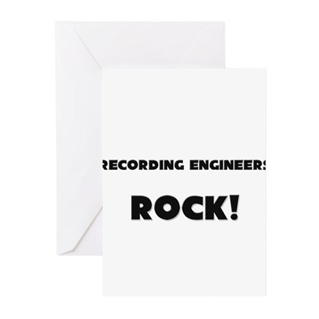Recording Engineers ROCK Greeting Cards (Pk of 10)