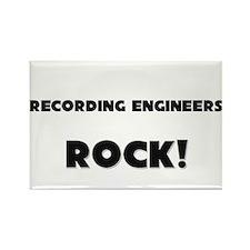 Recording Engineers ROCK Rectangle Magnet