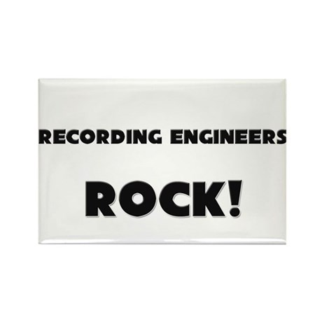 Recording Engineers ROCK Rectangle Magnet (10 pack