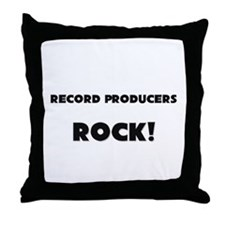 Record Producers ROCK Throw Pillow