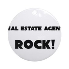 Real Estate Agents ROCK Ornament (Round)