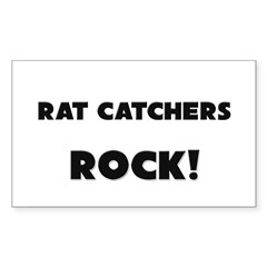 Rat Catchers ROCK Rectangle Sticker