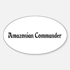 Amazonian Commander Oval Decal