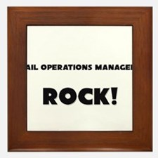 Rail Operations Managers ROCK Framed Tile