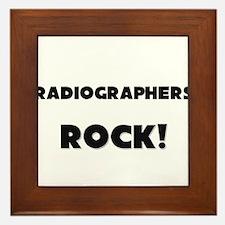 Radiographers ROCK Framed Tile