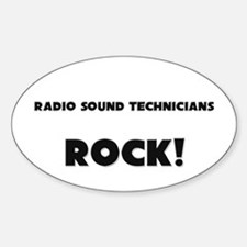 Radio Sound Technicians ROCK Oval Decal
