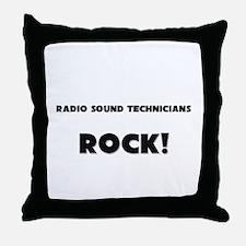 Radio Sound Technicians ROCK Throw Pillow