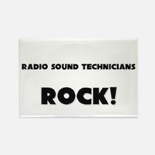 Radio Sound Technicians ROCK Rectangle Magnet