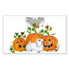 Sealyham Terrier Halloween Au Rectangle Decal