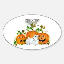 Sealyham Terrier Halloween Au Oval Decal