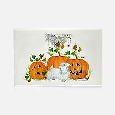 Sealyham Terrier Halloween Au Rectangle Magnet