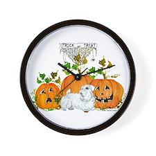 Sealyham Terrier Halloween Au Wall Clock