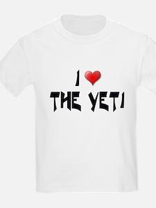 I LOVE THE YETI Kids T-Shirt