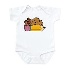 Pencil Bear Infant Bodysuit