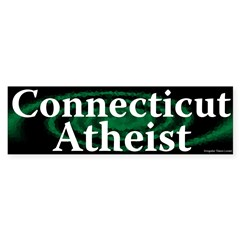 Connecticut Atheist Bumper Bumper Sticker