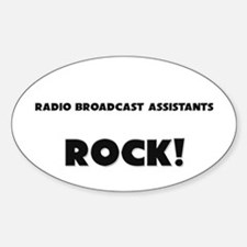 Radio Broadcast Assistants ROCK Oval Decal