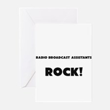 Radio Broadcast Assistants ROCK Greeting Cards (Pk