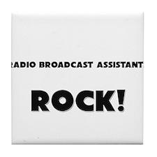 Radio Broadcast Assistants ROCK Tile Coaster