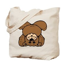 Upside Down Bear Tote Bag