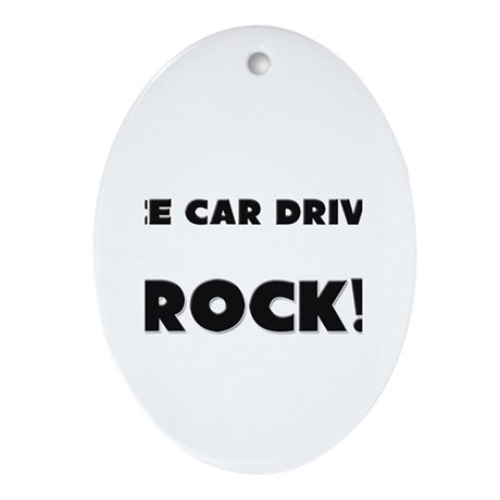 Race Car Drivers ROCK Oval Ornament