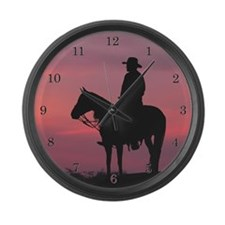 Evening Ride - Large Wall Clock