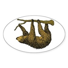 Sloth Oval Decal