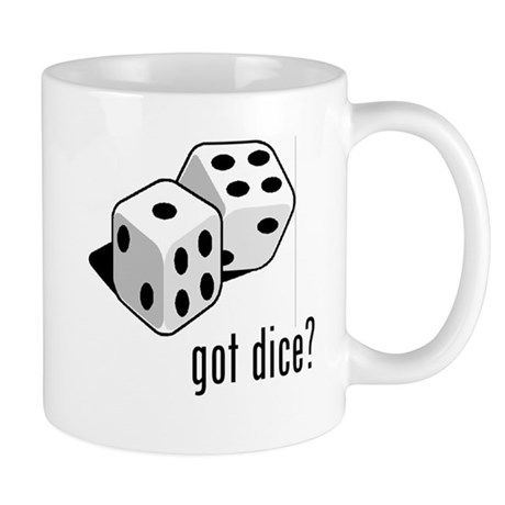got dice (with picture) Mug
