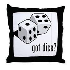 got dice (with picture) Throw Pillow