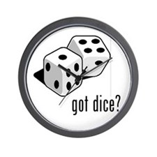 got dice (with picture) Wall Clock
