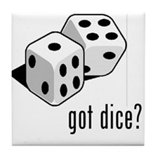 got dice (with picture) Tile Coaster