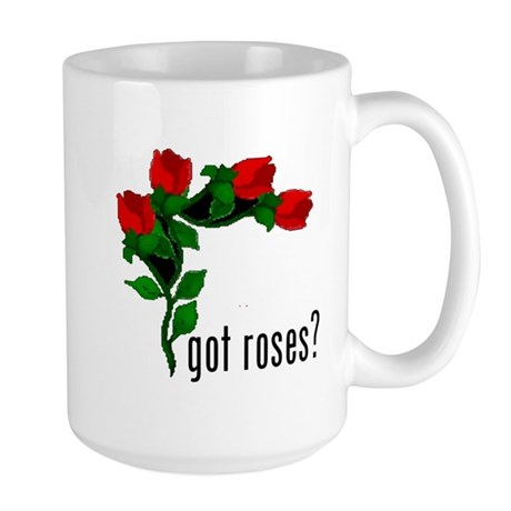 got roses (with picture) Large Mug