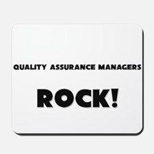 Quality Assurance Managers ROCK Mousepad