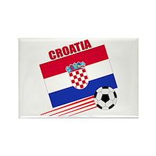 Croatia Soccer Team Rectangle Magnet