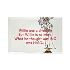 Willie Rectangle Magnet