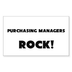 Purchasing Managers ROCK Rectangle Decal