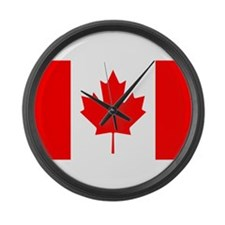 Canadian Flag Large Wall Clock