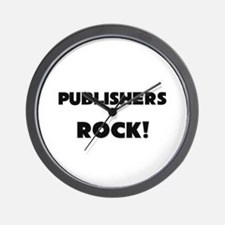 Publishers ROCK Wall Clock