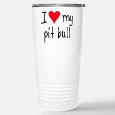 I LOVE MY American Pit Bull Travel Mug