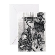 Corrections CERT, 37 mm and SWAT Greeting Card