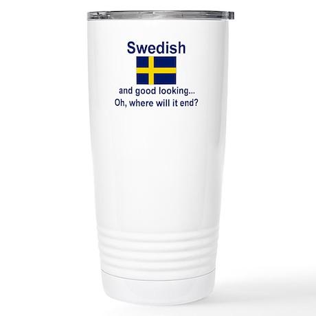 Good Looking Swede Stainless Steel Travel Mug